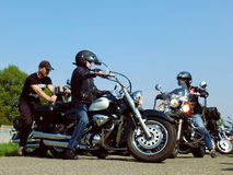 Motos classiques Images libres de droits