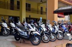 Motos dans la ligne Photo stock