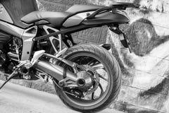 Motos de BMW de sport photographiées dehors Images stock