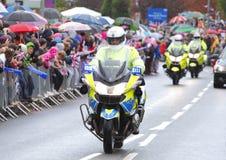 Motos de la policía Imágenes de archivo libres de regalías
