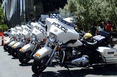 Motos de la policía de tráfico de Las Vegas foto de archivo