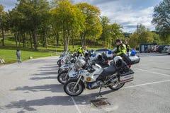 Motos de police Image libre de droits