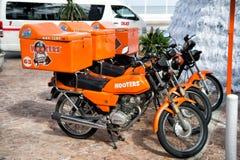 Motos de sirènes dans Cozumel, Mexique Photo libre de droits