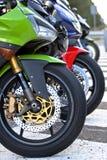 Motos en el camino Fotografía de archivo