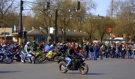 Motos et cavaliers Photo stock