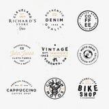 Motos faits sur commande, boutique de vélo, café et d'autres thèmes illustration libre de droits