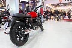 Motos sur l'affichage à l'expo 2015, expo de motobike de l'Eurasie du CNR Photos stock