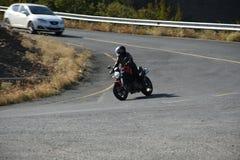 Motos sur la route Images stock