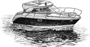 Motoscafo nel viaggio illustrazione vettoriale