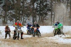motoskijoring的竞争 免版税库存图片