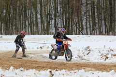 Free Motoskijoring Competition Stock Photography - 18935572
