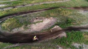Motosport teamwork driver stop help fix dirtbike stock footage