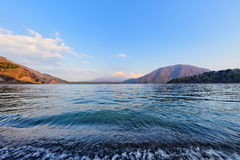 Motosuko Lake stock photography