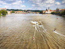 Motosurf World Cup Prague royalty free stock photo