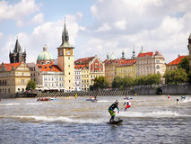 Motosurf World Cup Prague royalty free stock images