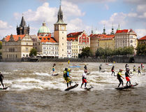 Motosurf World Cup Prague royalty free stock photos