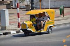 Mototaxi. In La Habana, Cuba royalty free stock photography