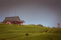 Mototsumya Shinto shrine on top of mount kamagatake. Royalty Free Stock Photo