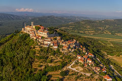 Motovun - Croatia. Motovun is a small village in central Istria (Istra), Croatia. City containing elements of Romanesque, Gothic and Renaissance styles Royalty Free Stock Photography