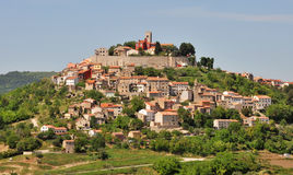 Motovun, Croatia. Medieval town Motovun on a top of a hill, Croatia royalty free stock images