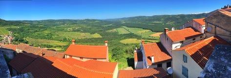 Motovun. Istria, Croatia. Panoramic view of Motovun. Istria, Croatia stock photo