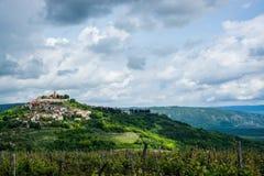 Motovun, Istria, Croatia. Motovun is a village in central Istria, Croatia stock photo