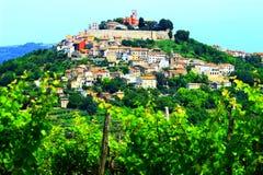 Motovun in Istria, Croazia Fotografia Stock