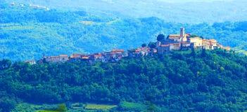 Motovun, in Istria region, Croatia. Motovun, picturesque place in Istria, Croatia stock photo