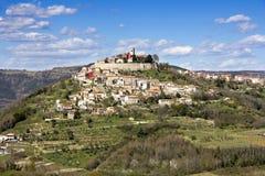 Motovun in Istria. Motovun, a small picturesque medieval town in Istria, Croatia stock photos