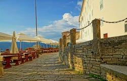 Motovun middeleeuwse stad Stock Foto's