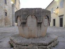 Motovun Montona - bem em Andrea Antico Square Imagens de Stock