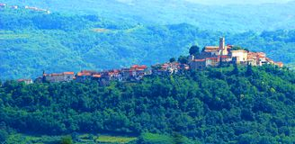 Motovun, in Istria region, Croatia. Motovun, picturesque place in Istria, Croatia stock photos