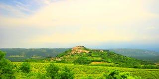 Motovun, in Istria region, Croatia. Motovun, picturesque place in Istria, Croatia stock images