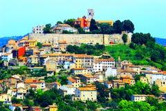 Motovun, in Istria region, Croatia. Motovun, picturesque place in Istria, Croatia royalty free stock photo