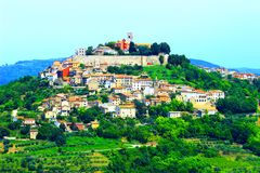 Motovun, in Istria region, Croatia. Motovun, picturesque place in Istria, Croatia stock image