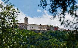 Motovun - Small town on the hill in Istria, Croatia. Stock Photos