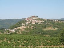 Motovun, small village in central Istria, Croatia, Europe. stock photography
