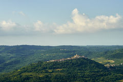 Motovun stad, istria Royaltyfri Fotografi