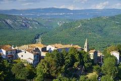 Motovun town, istria. Motovun/Montona is a medieval town in central Istria, Croatia stock image