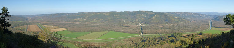 Motovun Valley View Panorama Royalty Free Stock Images
