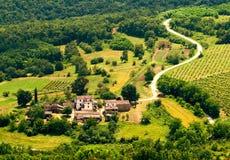Motovun fields in Croatia Stock Images