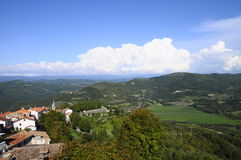 Motovun village in Croatia, Europe Royalty Free Stock Photography
