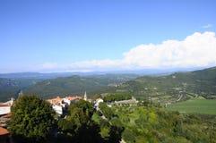 Motovun village in Croatia, Europe Royalty Free Stock Images