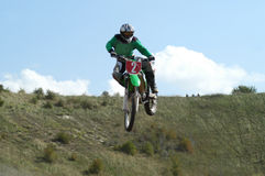 MotoX jumping Stock Photography