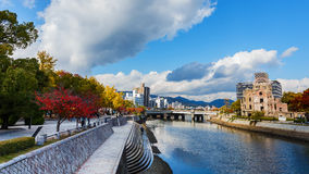 Motoyasu River in Hiroshima Stock Images
