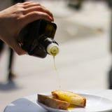 Motregen van Olive Oil Stock Afbeelding