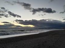Motril beach. Waves in a beach in Motril,  Granada Stock Image