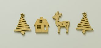Motriz do Natal com figuras de madeira Imagens de Stock