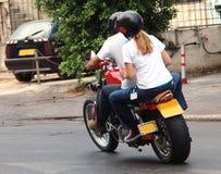 motrobike骑马 库存图片