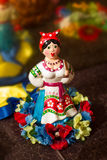 Motrya乌克兰民间玩具纪念品记忆陶瓷 库存照片